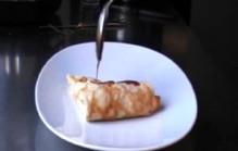 Flensjes met gebakken appel en calvados
