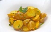 Aardappelsalade op Indiase wijze