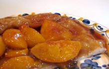 Tarte tatin met perziken