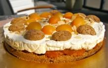 Mascarpone abrikozen taart