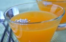Jelly van mandarijn en prosecco