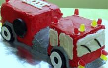 Brandweerwagen verjaardagstaart