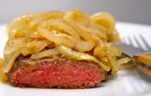 Steak bakken