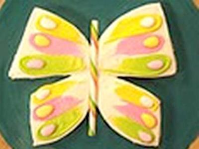 Vlinder verjaardagstaart
