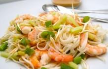 Salade met garnalen