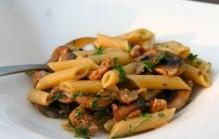 Pasta met champignons