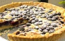 Blauwe bessen taart maken