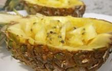 Passievrucht met ananas