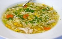 Kippen mais soep