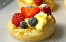 Zomer fruit gebakje