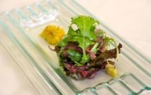 Ceasar salade met rosbief en piccalilly