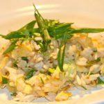 Gebakken rijst met kip en ei
