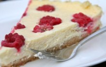 Frambozen cheesecake