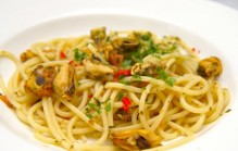 Spaghetti met mosselen