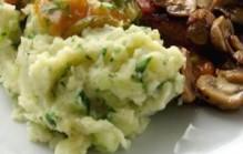Aardappelpuree met komkommer