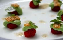 Aardbeien met hangop