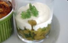 Courgette kaviaar met geitenkaasroom