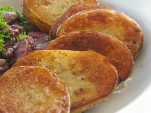 In de pan gebakken aardappels - recept met video