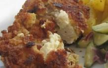 Gevulde kip met geitenkaas, tijm en honing