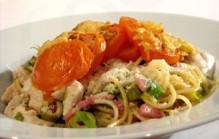 Spaghetti met tomaat uit de oven