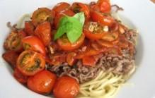 Spaghetti met cherrytomaatjes