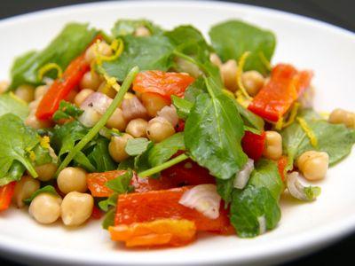 Kikkererwtensalade met waterkers - gezond recept