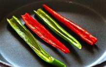 Rode peper snijden