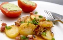 Gebakken aardappelschijfjes