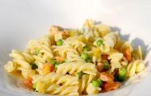 Makkelijke pasta met garnalen