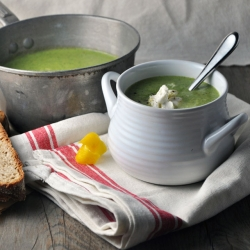 Bloemkoolsoep met broccoli