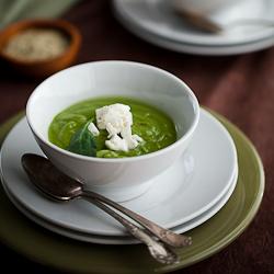 Brocoli soep met spinazie