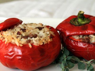 Recept gevulde tomaten met rijst