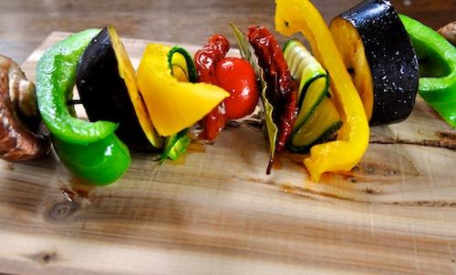 Recept voor groentespiesjes