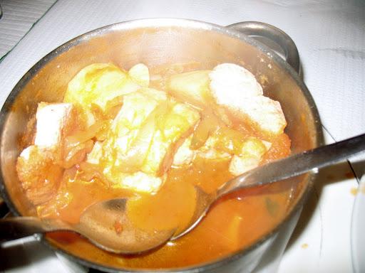 Recept voor Visstoofschotel met kerriesaus
