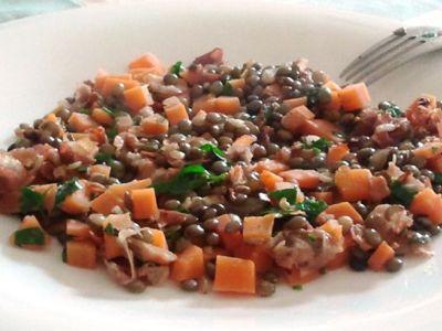 recept franse gestoofde Puy linzen