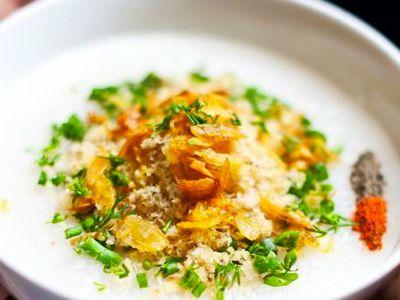 recept Zomerse rijstsoep met kip
