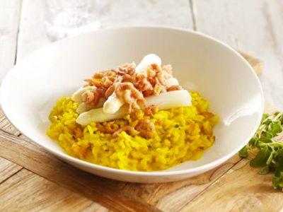 recept Risotto met asperges en Hollandse garnalen