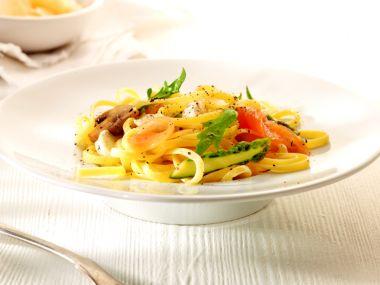 Makkelijke pasta met zalm