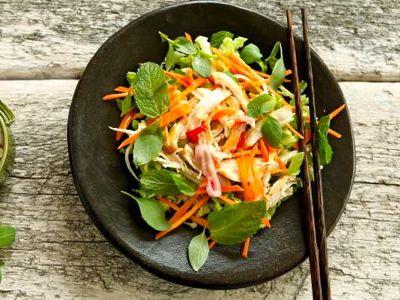 Recept Vietnamese salade met kip
