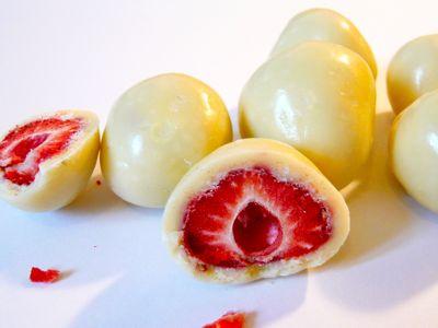 Recept aardbeien met witte chocolade