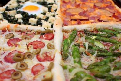 Recept voor pizza quatro gusti