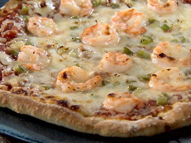 Recept voor pizza met tonijn en scampi's