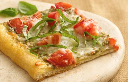 Recept voor vegarische pizza met pesto