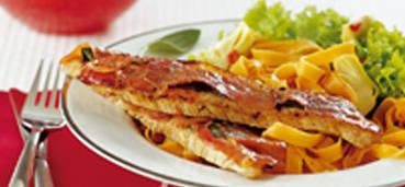 Kalfsschnitzel met saltimbocca