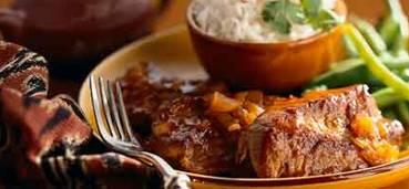 Exotische stoofpot met ketjap en verse gember
