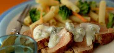 Varkenshaasje met gorgonzolasaus