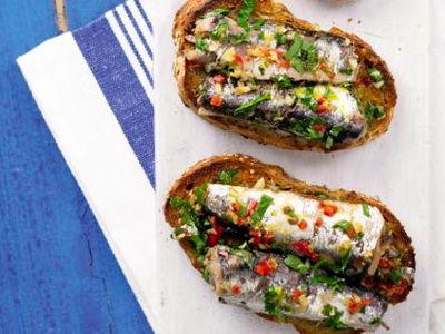 Sardines op brood