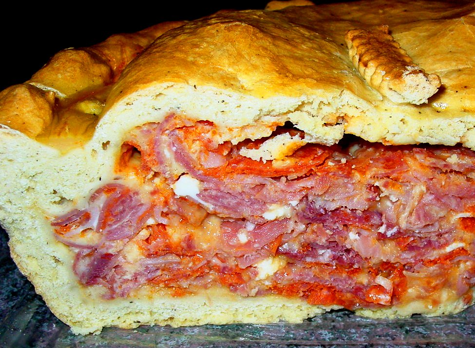 Italiaanse salamitaart