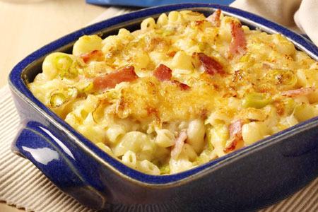 Macaroni met bacon