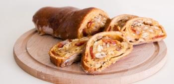 Gevuld Brood met Kip en Chorizo